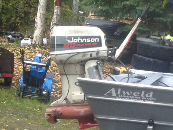 85 hp Johnson outboard tiller jet - for Sale in Big Lake