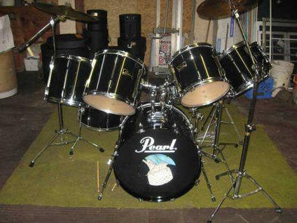 8 Piece Pearl Export Series Drum Set For Sale In Fort