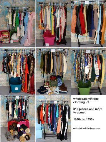 892+ piece WHOLESALE Vintage Clothing Lot 60s 70s 80s