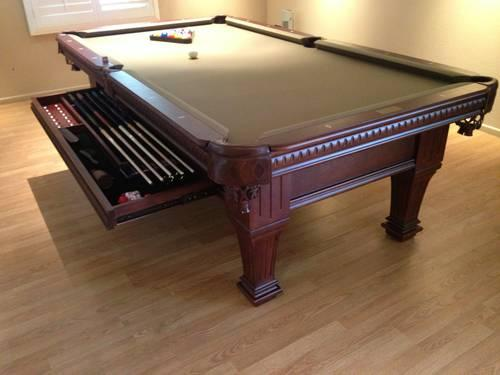 8ft Pool Table Brand New 3pc 1 Quot Slate Solid Wood Free