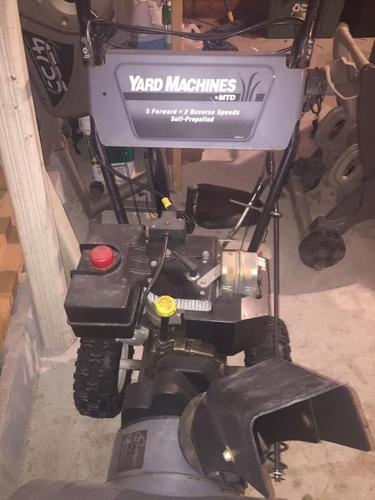 yard machine snowblower 8hp 24