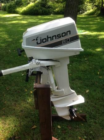 8hp johnson outboard boat motor for sale in glenmoore for Johnson evinrude outboard motors for sale