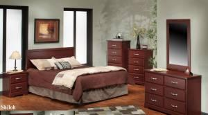 8pc Contemporary Cherry Bedroom Set New Denver