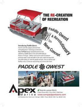 $9,495 2012 Paddle Qwest 614 Family Cruise Pontoon Boat by Apex Marine