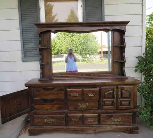 dresser with hutch mirror triple dresser mirror hutch classifieds buy sell across the usa americanlisted