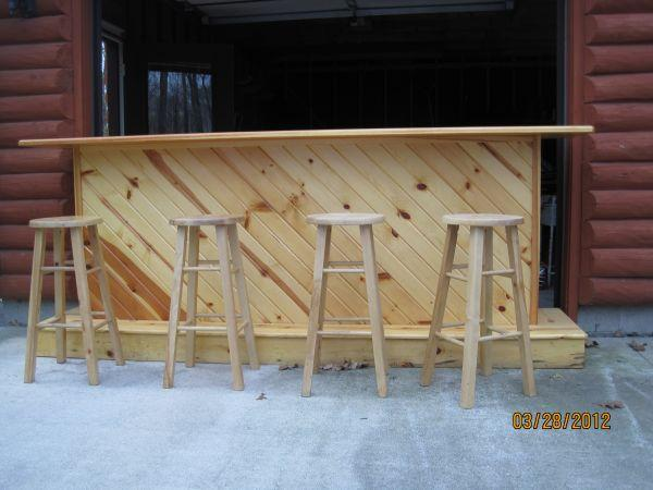 9 Foot Knotty Pine Bar Plymouth For Sale In Sheboygan