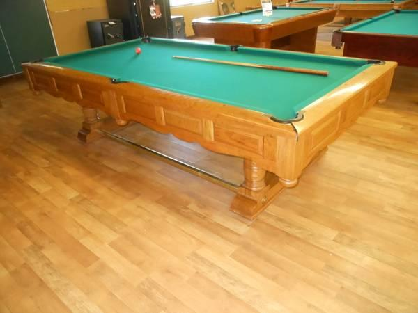 9 foot slate pool table by brunswick free delivery within for 1 inch slate pool table