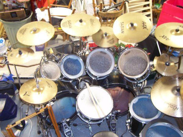 9 pc pearl export series drum set fayetteville for sale in fayetteville north carolina. Black Bedroom Furniture Sets. Home Design Ideas