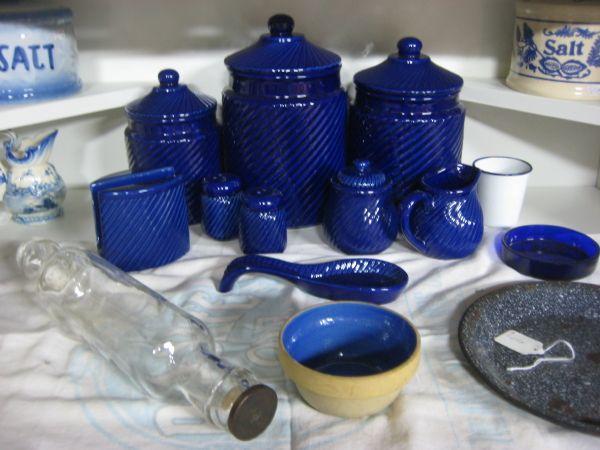 Blue Kitchen Canister Set 28 Images Cobalt