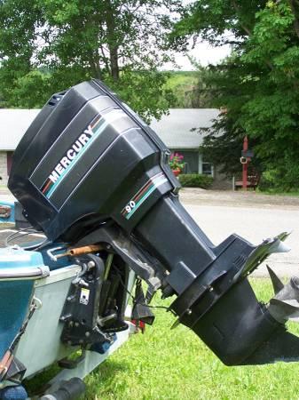 90hp mercury outboard motor plus trolling motor for sale for Mercury 90 hp outboard motor