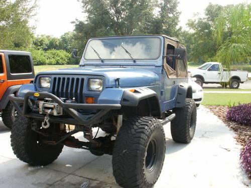 u0026 39 93 jeep wrangler yj 4x4 lifted 37 u0026quot  m  t tires smittybilt