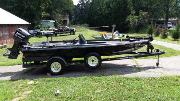 93 ranger 361v bass boat - $6000