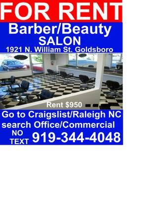 - $950 BARBER/BEAUTY SHOP(FULLY EQUIPPED) 1921 N.