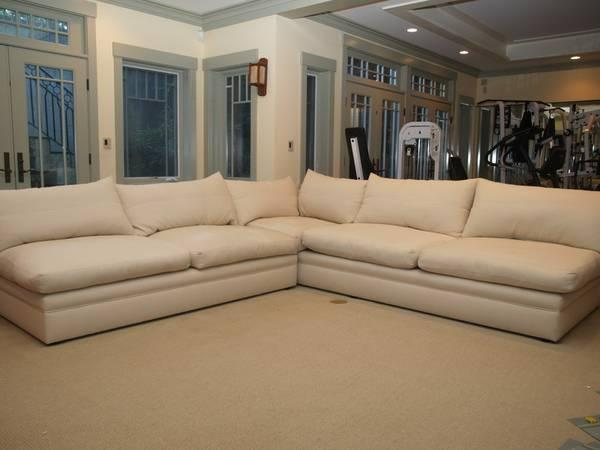 ►►Deluxe Kreiss Sectional L-shaped Sofa -