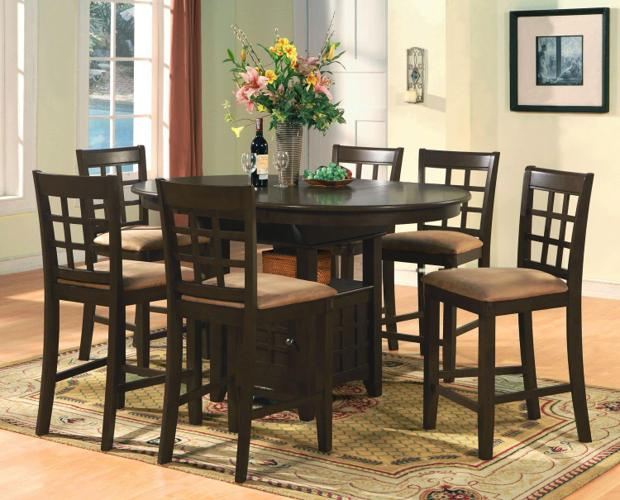 Pc elegant oval counter height dining set ☺ϗ