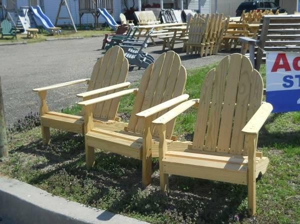 AMISH MADE Outdoor ADIRONDACK CHAIRS Solid Pine for
