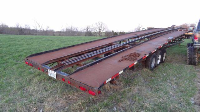 99 Kaufman 4 car hauler trailer - trailer pulls nice