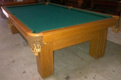 Gandy 9 Pool Table Solid Wood 3pc Slate Great