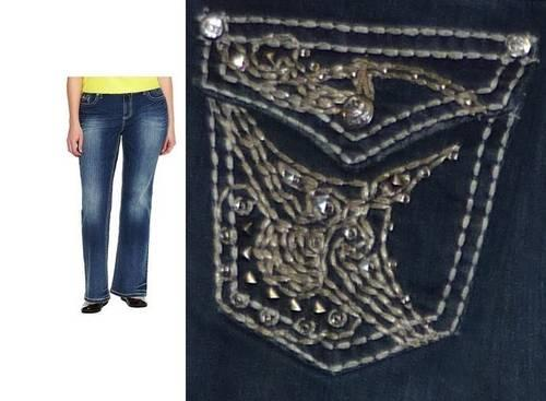 Bootcut embellished jeans women s plus size 18w new for sale in