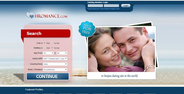 A new wave in Herpes dating sites -- Hromance