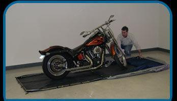 A portable garage for your motorcycle the new cycle enclosure for sale in rumney new - American motorbike garage ...