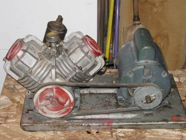 A vintage speedy pump by w r brown ac motor by g e for 1 4 hp ac motor
