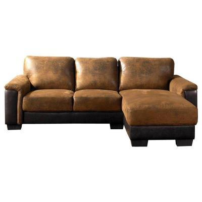 abbyson living braxton brown sectional sofa for sale in