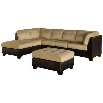 Abbyson Living Sedona Sectional Sofa And Ottoman