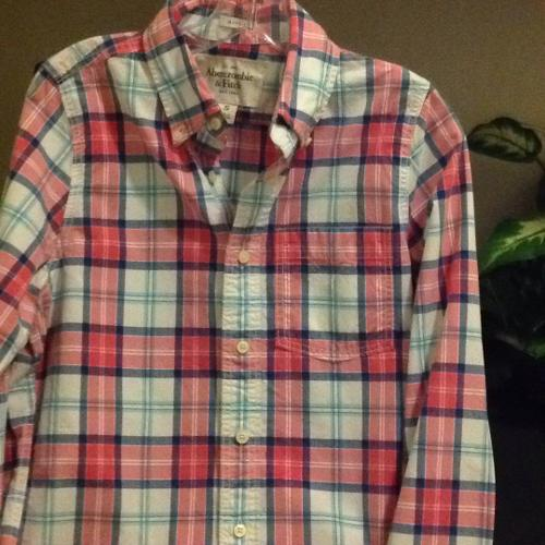 Abercrombie men's long sleeved plaid shirt.