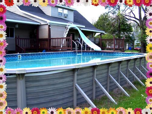 Above ground swimming pool 18 39 x 33 39 x 4 39 oval complete for Above ground pools for sale