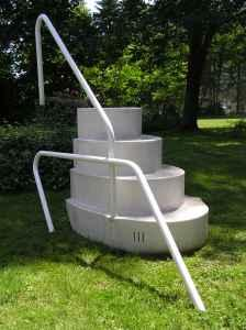 wedding cake stairs for above ground pool above ground swimming pool steps salamanca for in 25594