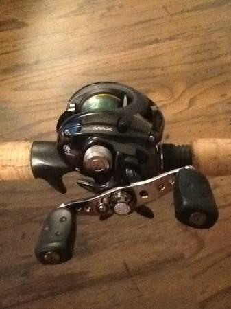 Abu Garcia promax bait caster with matching rod - $60