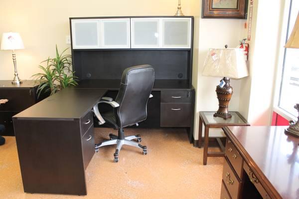 Accord Office Furniture Lshape Espresso Color For Sale