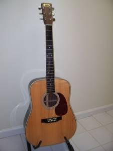 ACOUSTIC GUITAR - $1875 (McIntosh County)