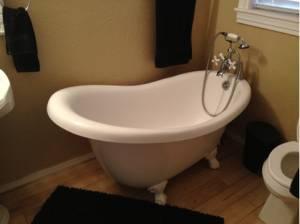 Acrylic Claw Foot Bath Tub Amarillo Canyon For Sale