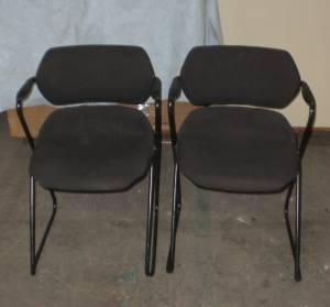 acton stacker american seating black fabric chairs 2 downtown
