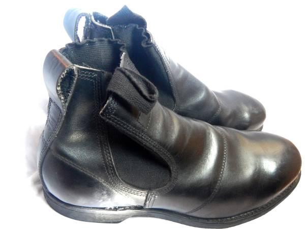 Addison Black Leather Steel Toe Romeo Boot For Sale In