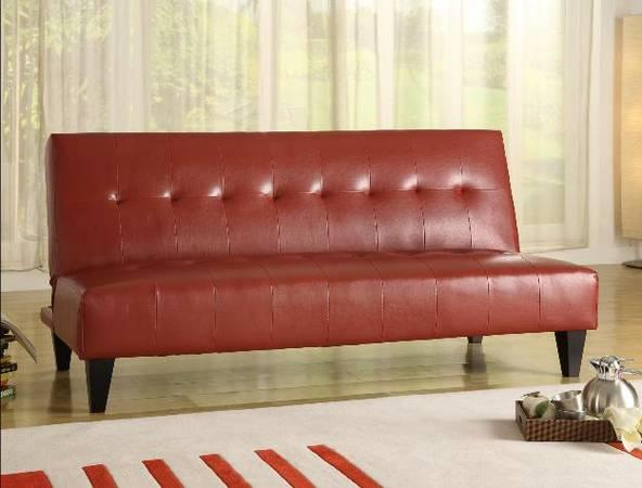 Adjule Sofa Bed Futon In Marco Red