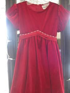 ADORABLE GIRLS RARE EDITION RED VELVET CHRISTMAS DRESS - SIZE 4T - $12 PRESCOTT