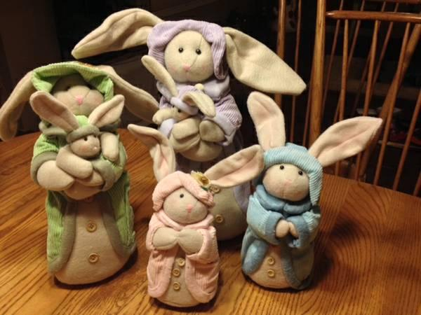 Adorable Stuffed Bunny Family - $40