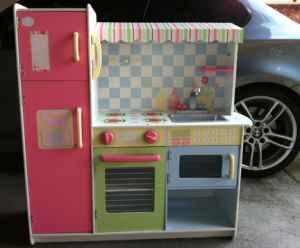 Adorable Wooden Pretend Play Kitchen Set Turlock For