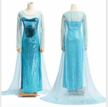 Adult Size Disney Frozen Queen Elsa Halloween Costume & Adult Size Disney Frozen Queen Elsa Halloween Costume Gowns for Sale ...