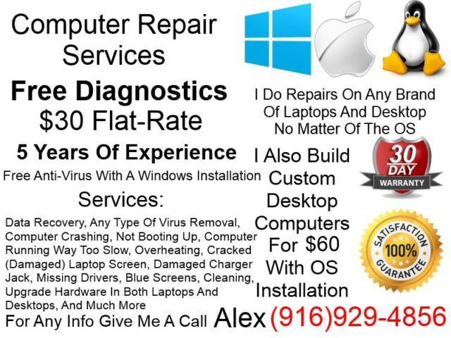 Affordable And Reliable Computer Repair Service, $30