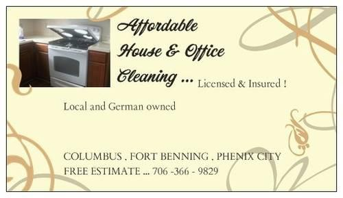 AFFORDABLE HOUSE & OFFICE CLEANING COLUMBUS GA
