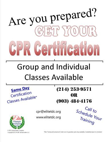 AHA CPR Certification and Re-Certification in Ennis, Texas ...