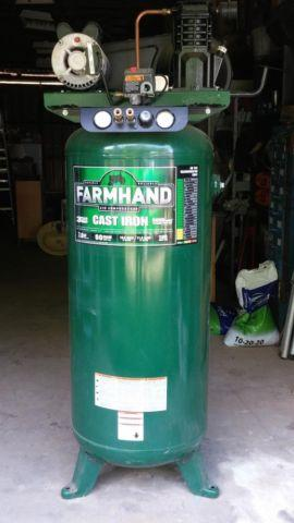Air Compressor 60 Gal Farm Hand Virticle Cast Iron With