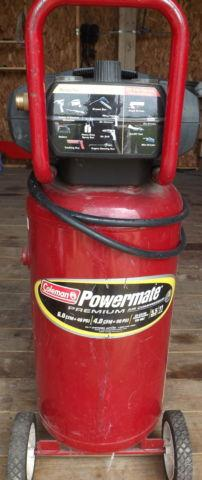 Air Compressor, Coleman Powermate CL0551109, 11 Gallon, 140 psi