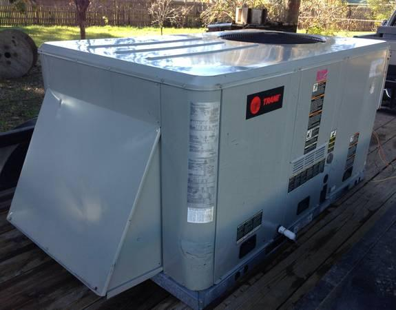 Air Condition Gas Heat A C Trane 5 Ton Package Unit