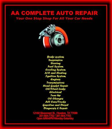 Air Conditioning & Heater Service & Repairs !!