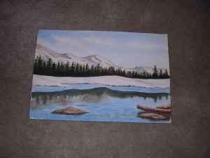 AL TAFT - LOCALLY KNOWN ARTIST WATERCOLOR PAINTING -